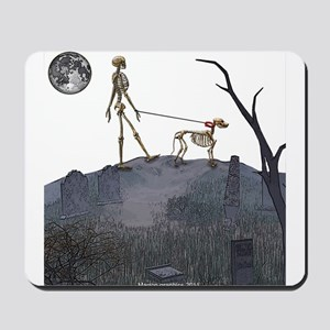 walk in the cemetery Mousepad