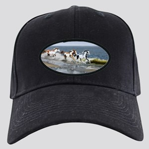 Painted Ocean Black Cap