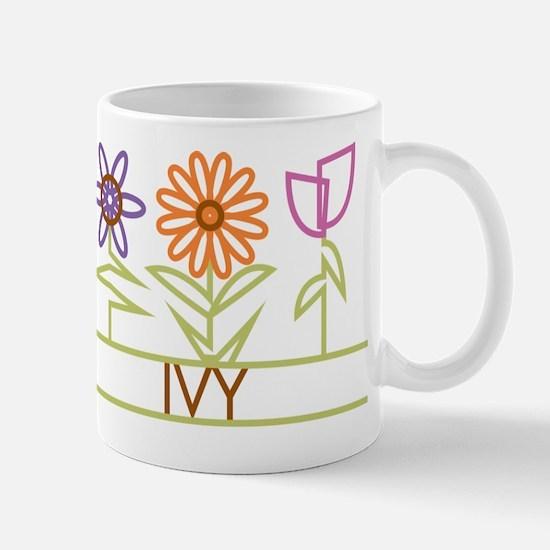 Ivy with cute flowers Mug