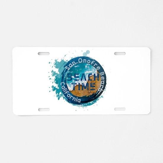 California - San Onofre Bea Aluminum License Plate