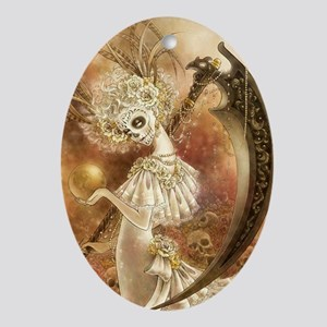 Santa Muerte Ornament (Oval)