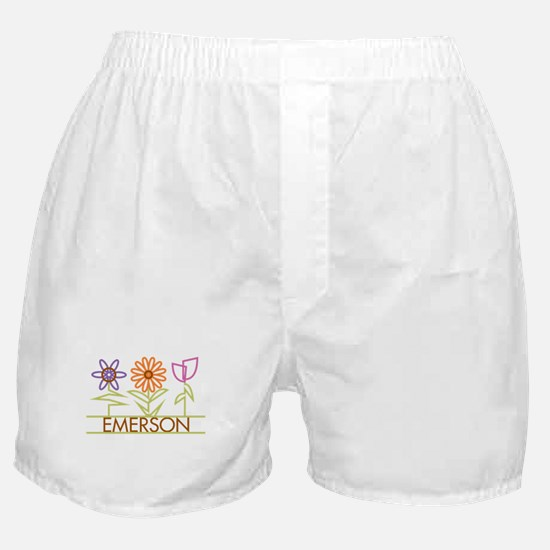Emerson with cute flowers Boxer Shorts
