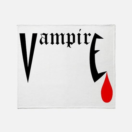 Vampire Throw Blanket