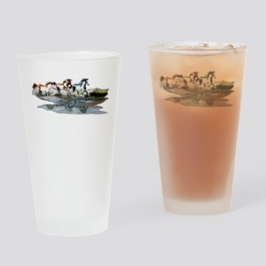 Painted Ocean Drinking Glass