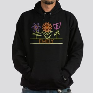 Emely with cute flowers Hoodie (dark)