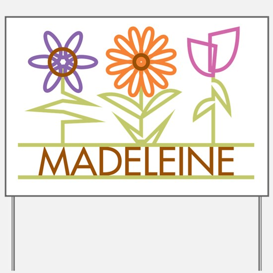 Madeleine with cute flowers Yard Sign