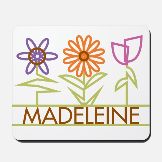 Madeleine with cute flowers Mousepad