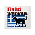 Fight! SAUSAGE Throw Blanket