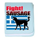 Fight! SAUSAGE baby blanket
