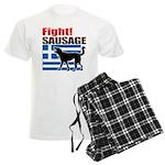Fight! SAUSAGE Men's Light Pajamas