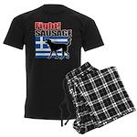 Fight! SAUSAGE Men's Dark Pajamas