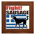 Fight! SAUSAGE Framed Tile