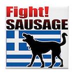 Fight! SAUSAGE Tile Coaster