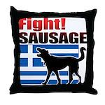 Fight! SAUSAGE Throw Pillow
