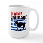 Fight! SAUSAGE Large Mug
