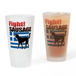 Fight! SAUSAGE Drinking Glass