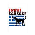 Fight! SAUSAGE Mini Poster Print