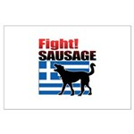 Fight! SAUSAGE Large Poster