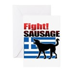 Fight! SAUSAGE Greeting Cards (Pk of 20)