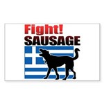 Fight! SAUSAGE Sticker (Rectangle 10 pk)