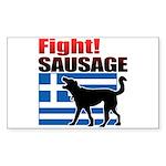 Fight! SAUSAGE Sticker (Rectangle 50 pk)