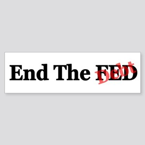 Occupy Wall Street and End th Sticker (Bumper)