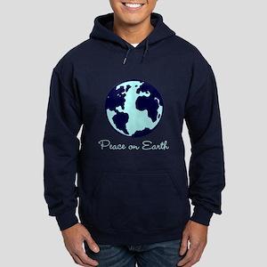 Peace on Earth (navy) Hoodie (dark)