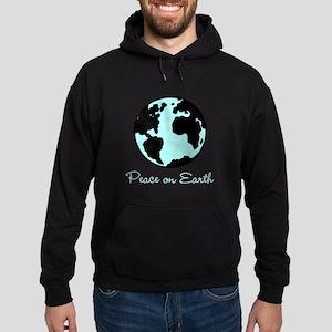 Peace on Earth (black) Hoodie (dark)