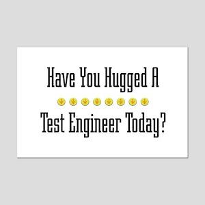 Hugged Test Mini Poster Print
