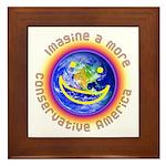 Imagine...Conservative America Framed Tile