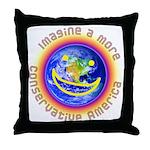 Imagine...Conservative America Throw Pillow