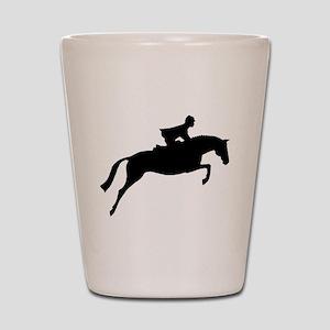 h/j horse & rider Shot Glass