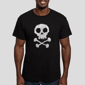 skull and crossbones Men's Fitted T-Shirt (dark)