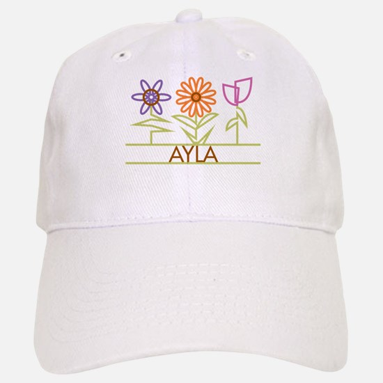 Ayla with cute flowers Cap