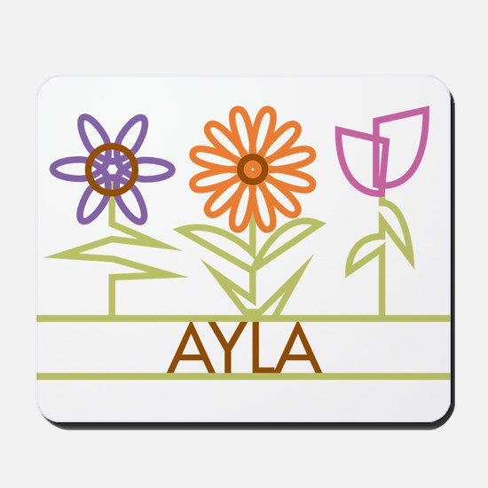 Ayla with cute flowers Mousepad