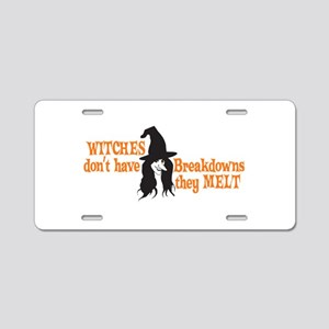 Witches Melt Aluminum License Plate