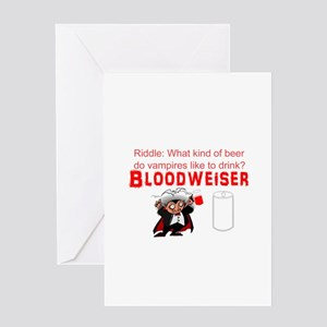 Vampire beer Greeting Card