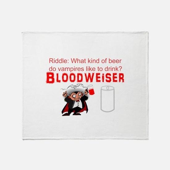 Vampire beer Throw Blanket
