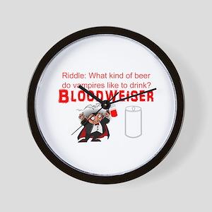 Vampire beer Wall Clock