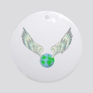 Flying Earth Ornament (Round)