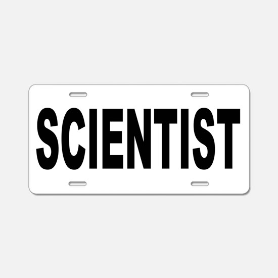 Scientist Aluminum License Plate