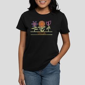 Talia with cute flowers Women's Dark T-Shirt