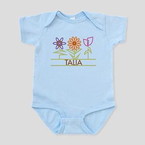 Talia with cute flowers Infant Bodysuit