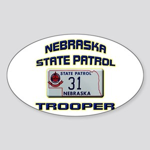 Nebraska State Patrol Sticker (Oval)