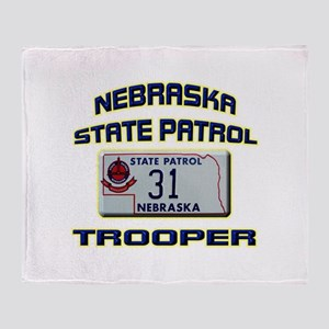 Nebraska State Patrol Throw Blanket