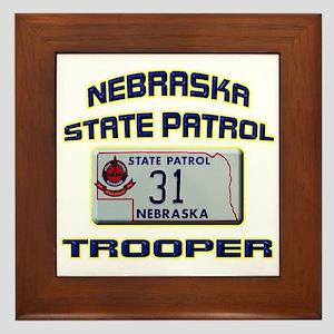 Nebraska State Patrol Framed Tile