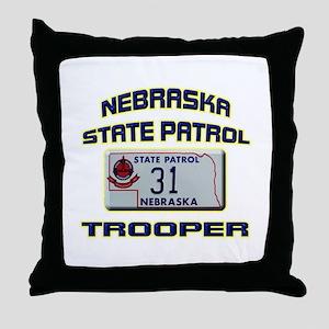 Nebraska State Patrol Throw Pillow