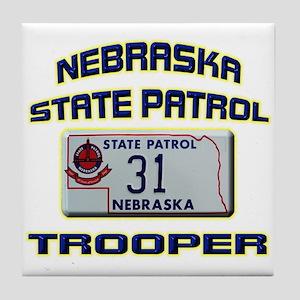 Nebraska State Patrol Tile Coaster