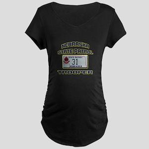 Nebraska State Patrol Maternity Dark T-Shirt
