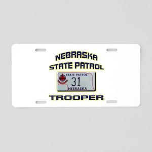 Nebraska State Patrol Aluminum License Plate